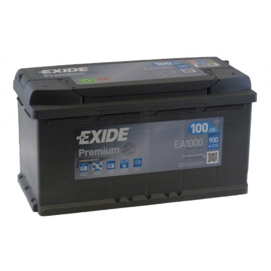 Exide Premium EA1000 12V 100Ah Start Accu-1