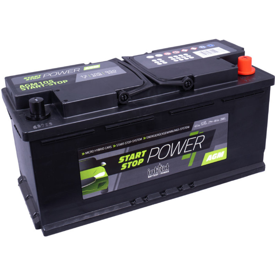 Intact Start-Stop-Power 12V 105Ah AGM950-1