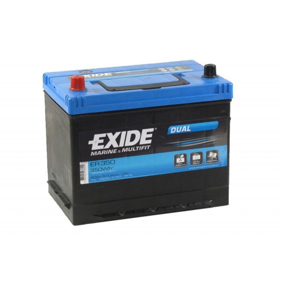 Exide Dual ER350 12V 80Ah-1
