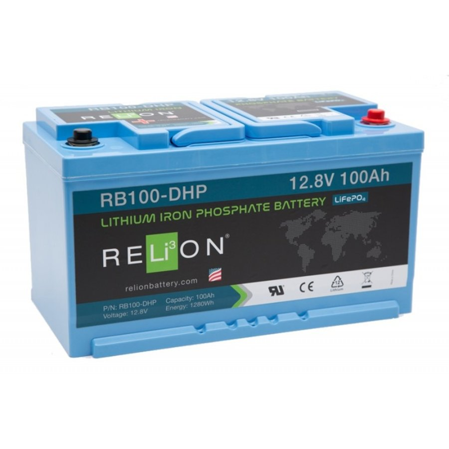 RELION Lithium Battery 12,8V 100Ah DHP-1