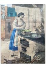 B. Dondorf - Küche [Handgekleurde steendruk]