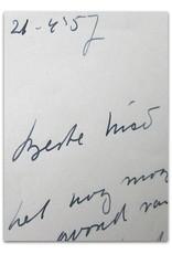 Marga Minco - Beste Nico [Wijnen],  [Originele handgeschreven brief]