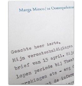 Marga Minco - Geachte heer Aerts, - 1992