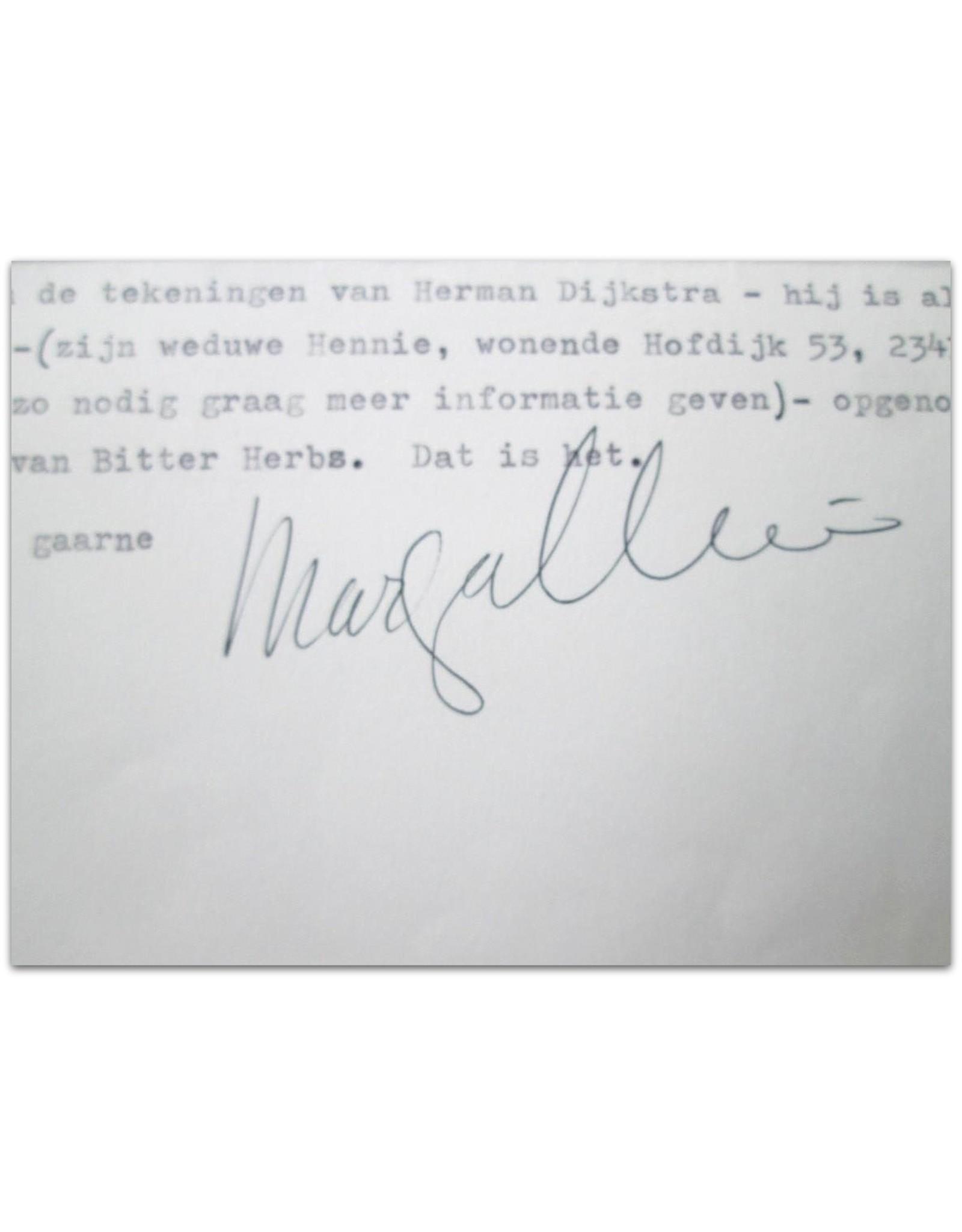 Marga Minco - Geachte heer Aerts,  [Original letter in typescript]