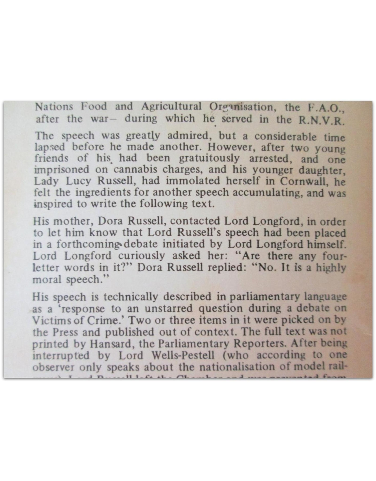 Ralph Steadman - The Full and True Text of a Notorious, Remarkable and Visionary Speech Made By John, Viscount Amberley, Earl Russell, [...]