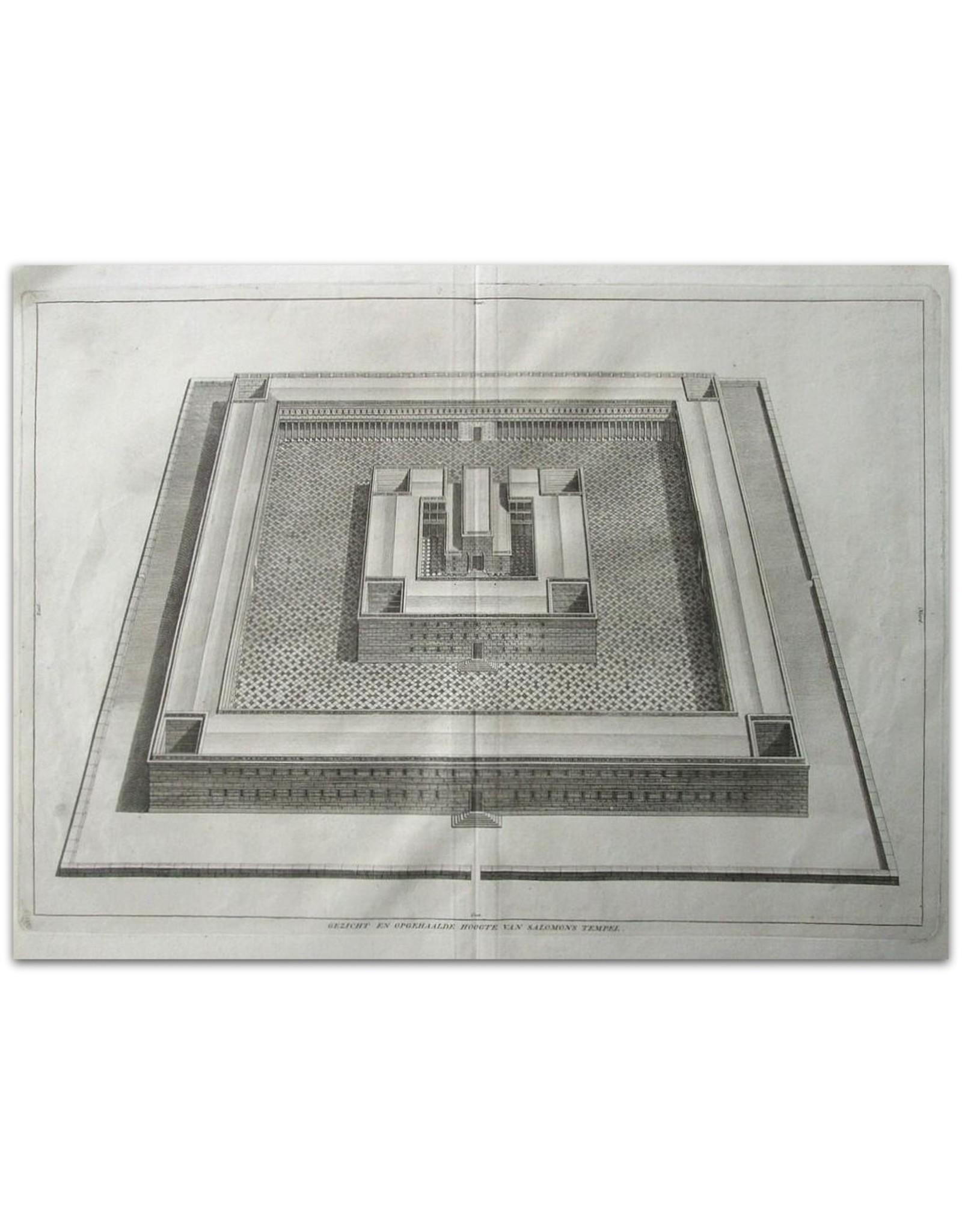 [Augustinus Calmet] - Gezicht en opgehaalde hoogte van Salomons Tempel