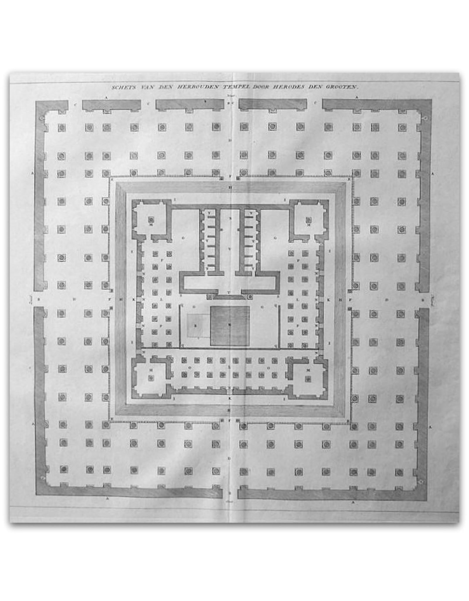 [Augustinus Calmet] - Schets van den herbouden Tempel door Herodes den Grooten