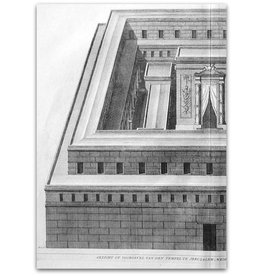[Augustinus Calmet] - Voorgevel van Tempel - 1725