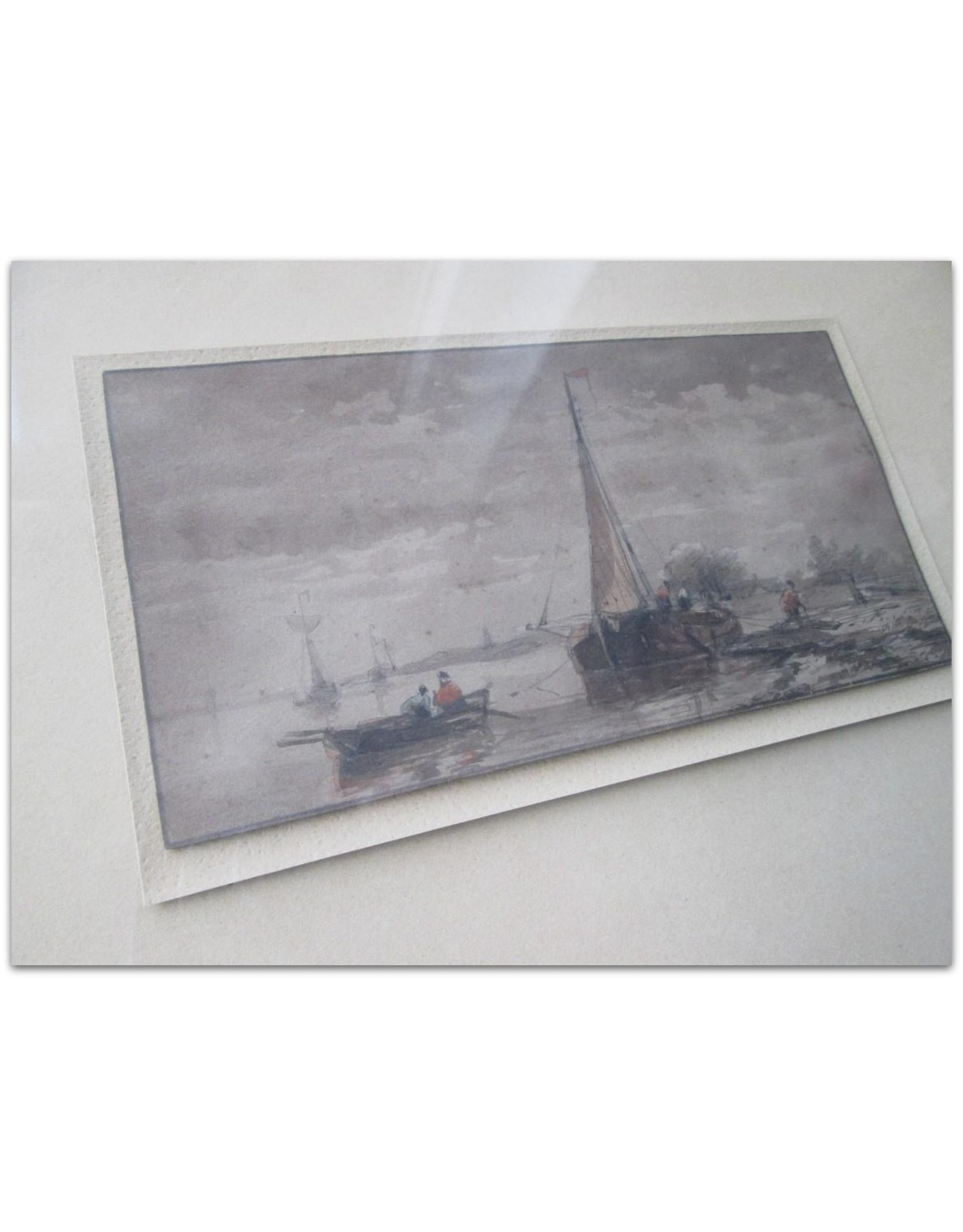 [Anonymous] - Fisherman's scene [19th century, watercolor on paper]