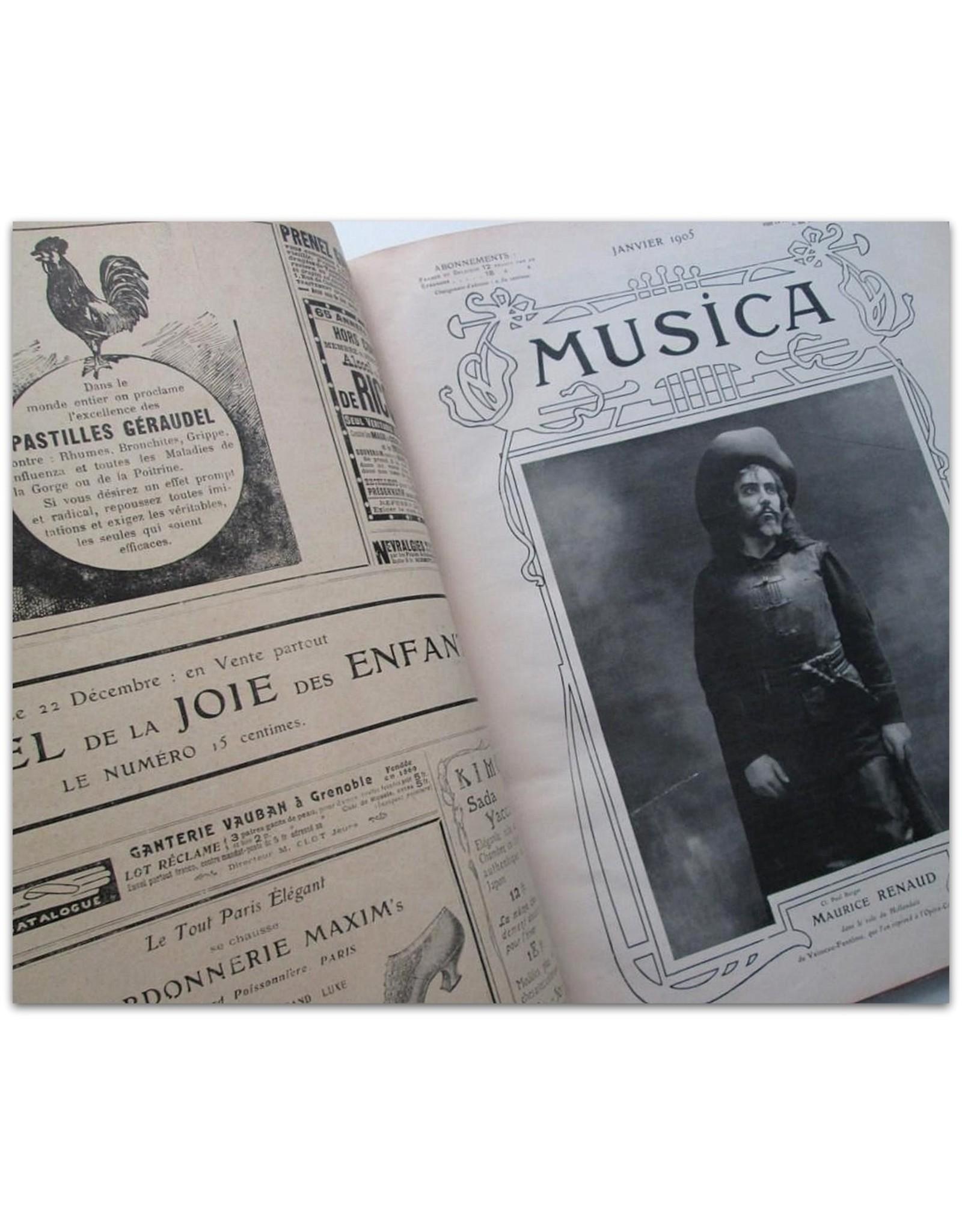 [Sarah Bernhardt] - Musica [Quatrième année 1905: Janvier No. 28 thru Décembre No. 39]