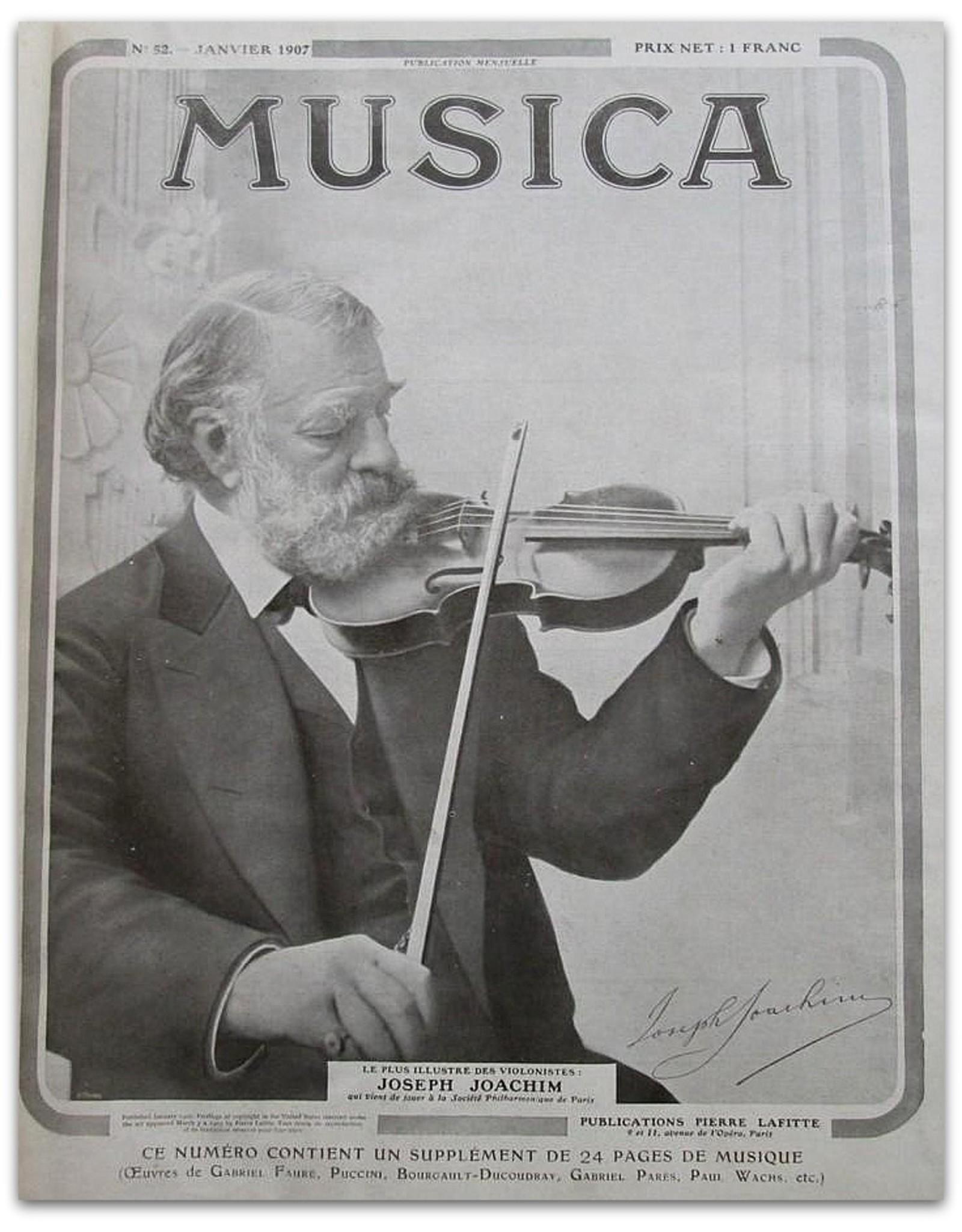 Camille Saint Saens - Musica [Sixième année 1907: Janvier No. 52 t/m Décembre No.63]