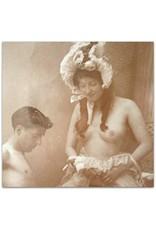 [Original photo] - Trio sexscène in studio:  [jonge man en twee dames]