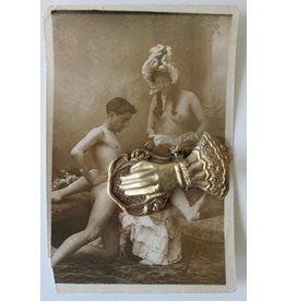 [Original photo] - Trio sexscène  - ca 1900