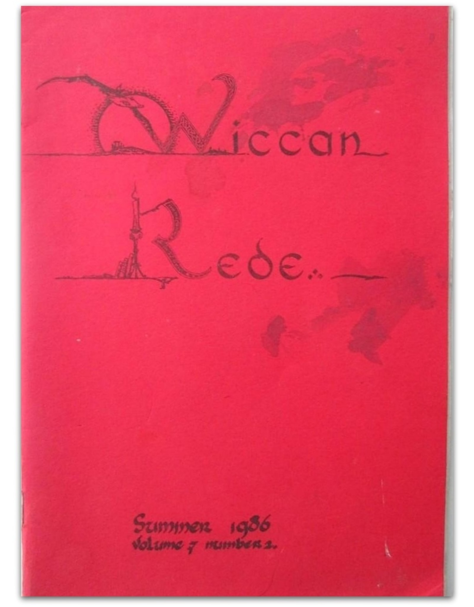 Lot met 4 Wiccan Rede magazines