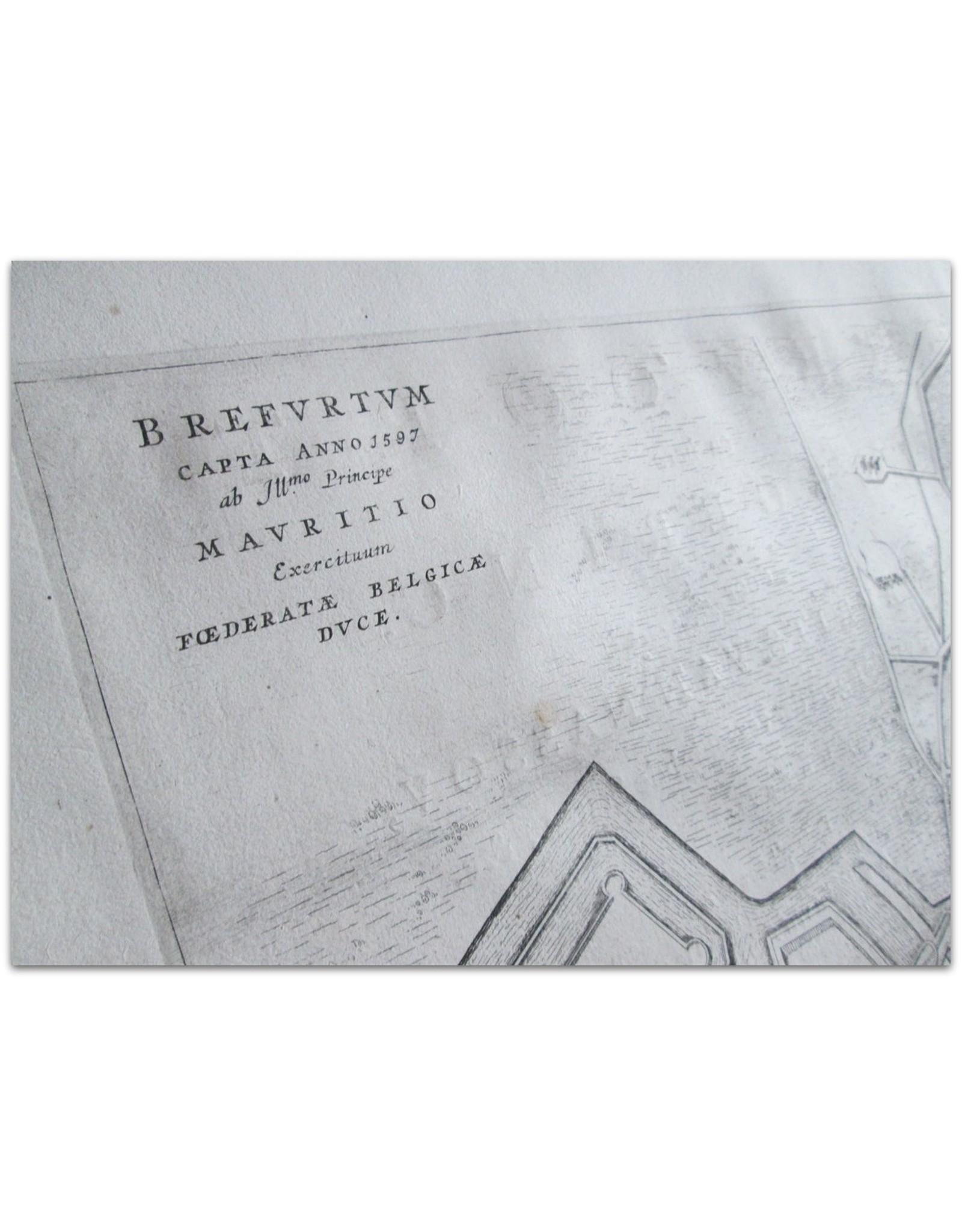 Joan Blaeu - Breevoort. Brefvrtvm capta anno 1597 ab Ill.mo Principe Mavritio Exercituum Foederatae Belgicae Dvce