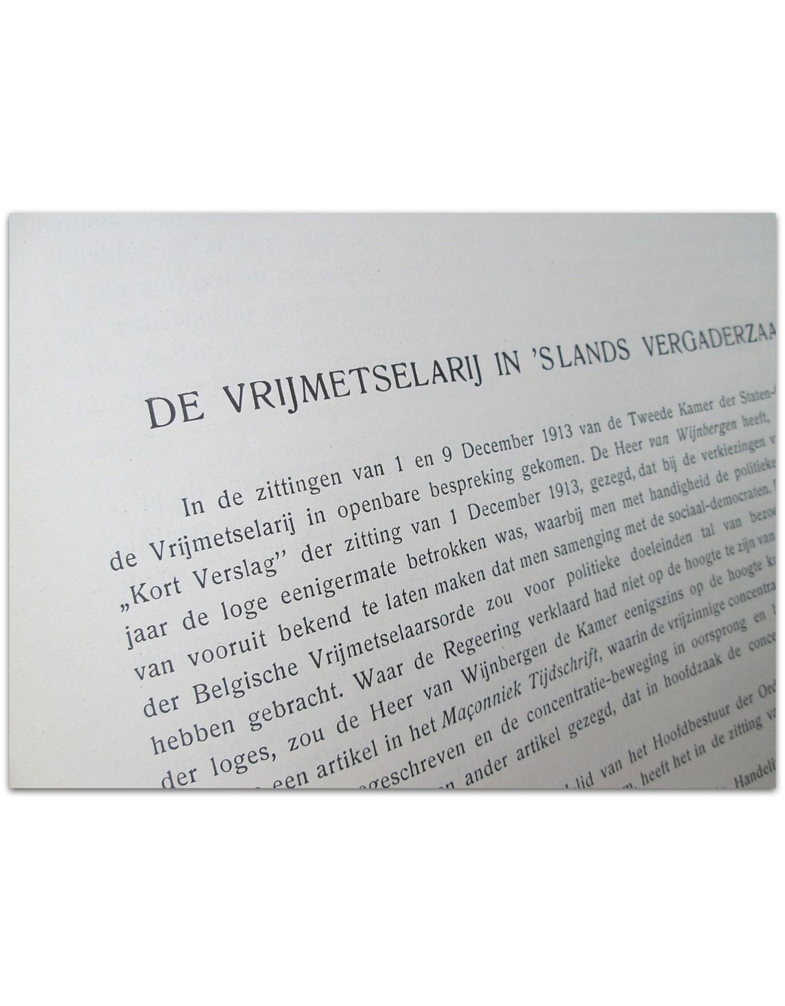 D. de Visser Smits - Vrijmetselarij. Geschiedenis, maatschappelijke beteekenis en doel