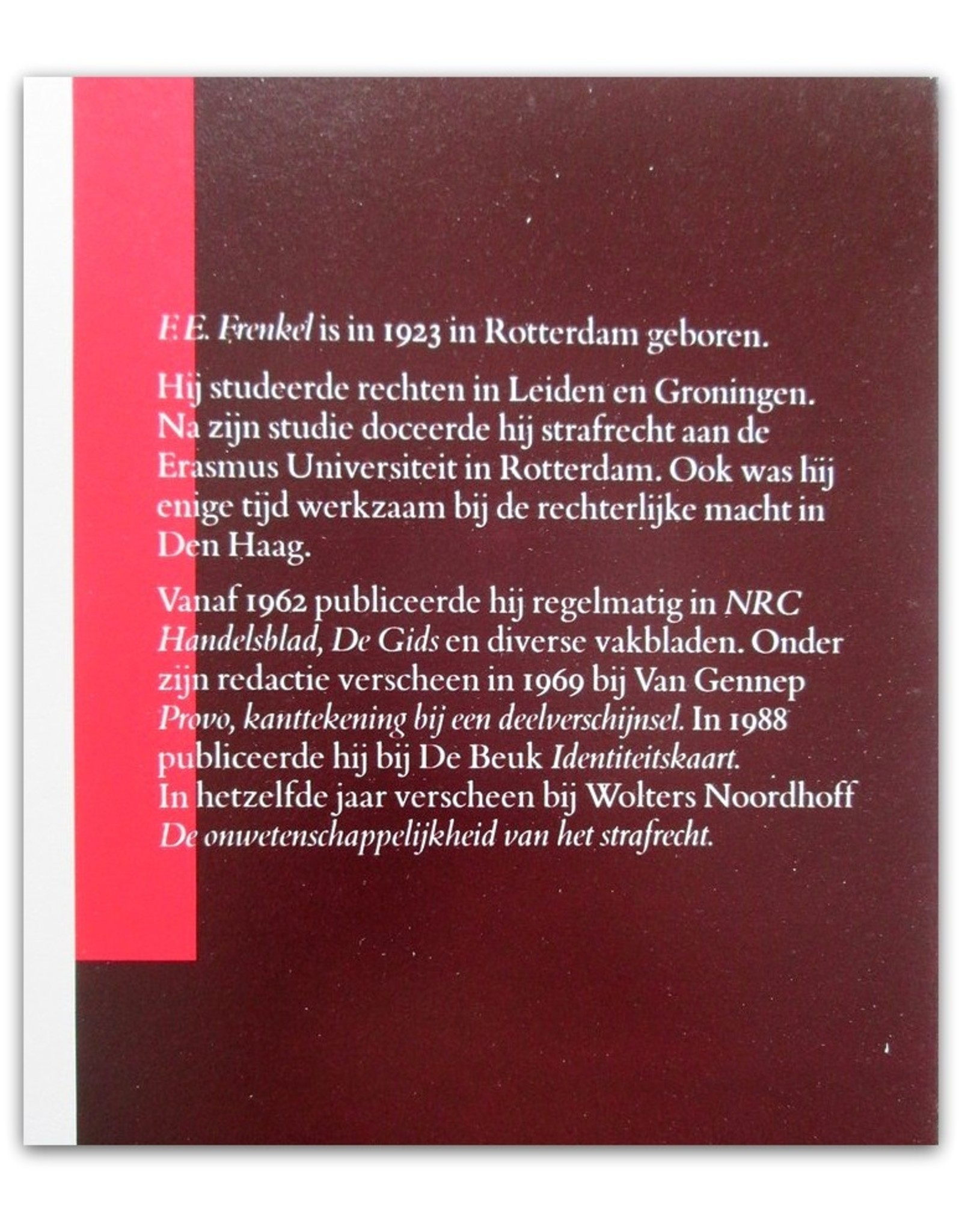 F.E. Frenkel - Schuld & Straf