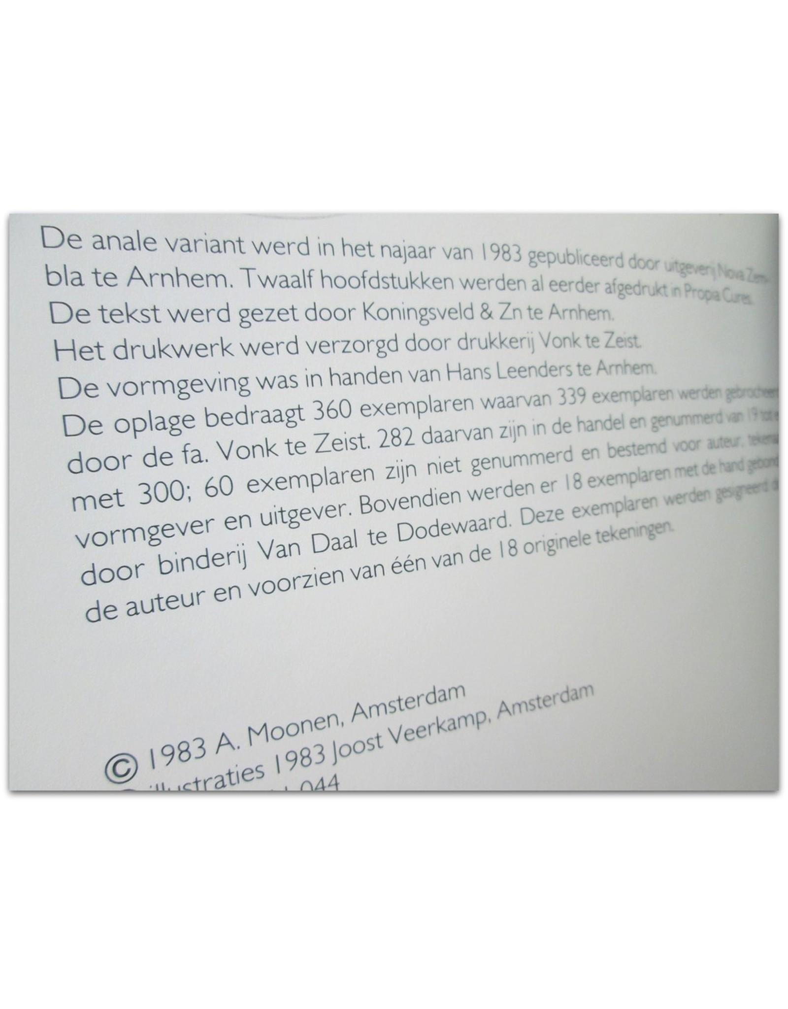 A. Moonen - De anale variant. Tekeningen Joost Veerkamp