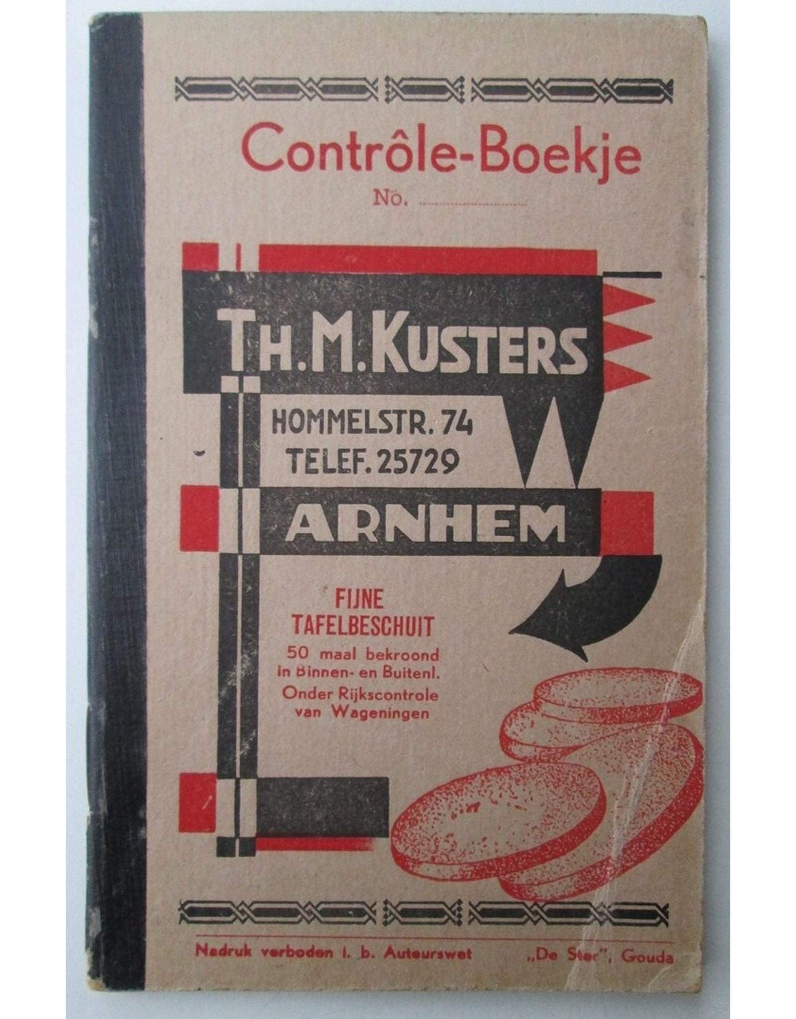[Sinterklaas] Contrôle-Boekje No. - Th. M. Kusters Hommelstr. 74 Arnhem