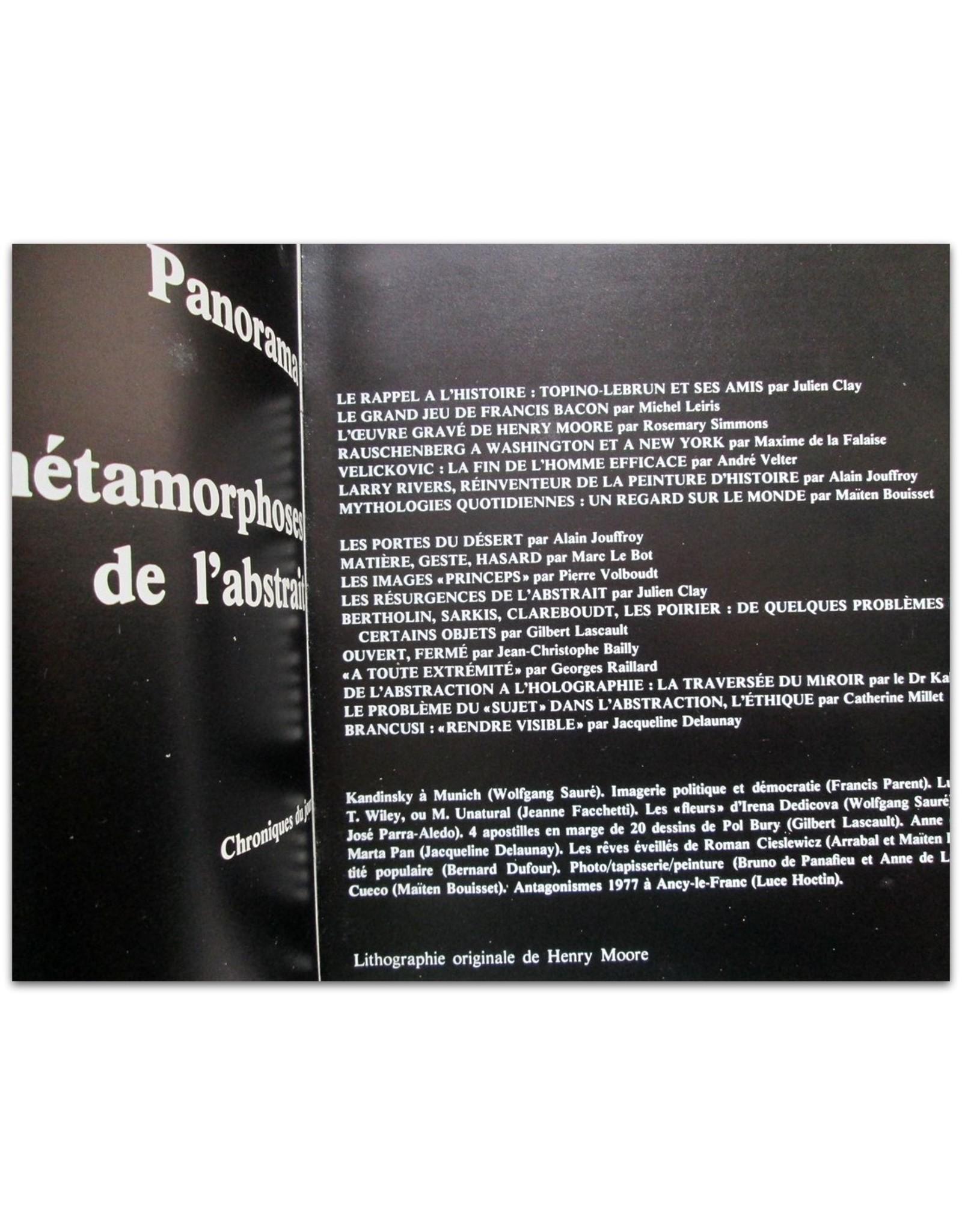 Alain Jouffroy - XXe siècle Numéro 49 Décembre 1977. Lithographie originale de Henry Moore