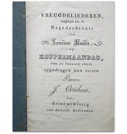 Laurens Koster op Koppermaandag - 1825