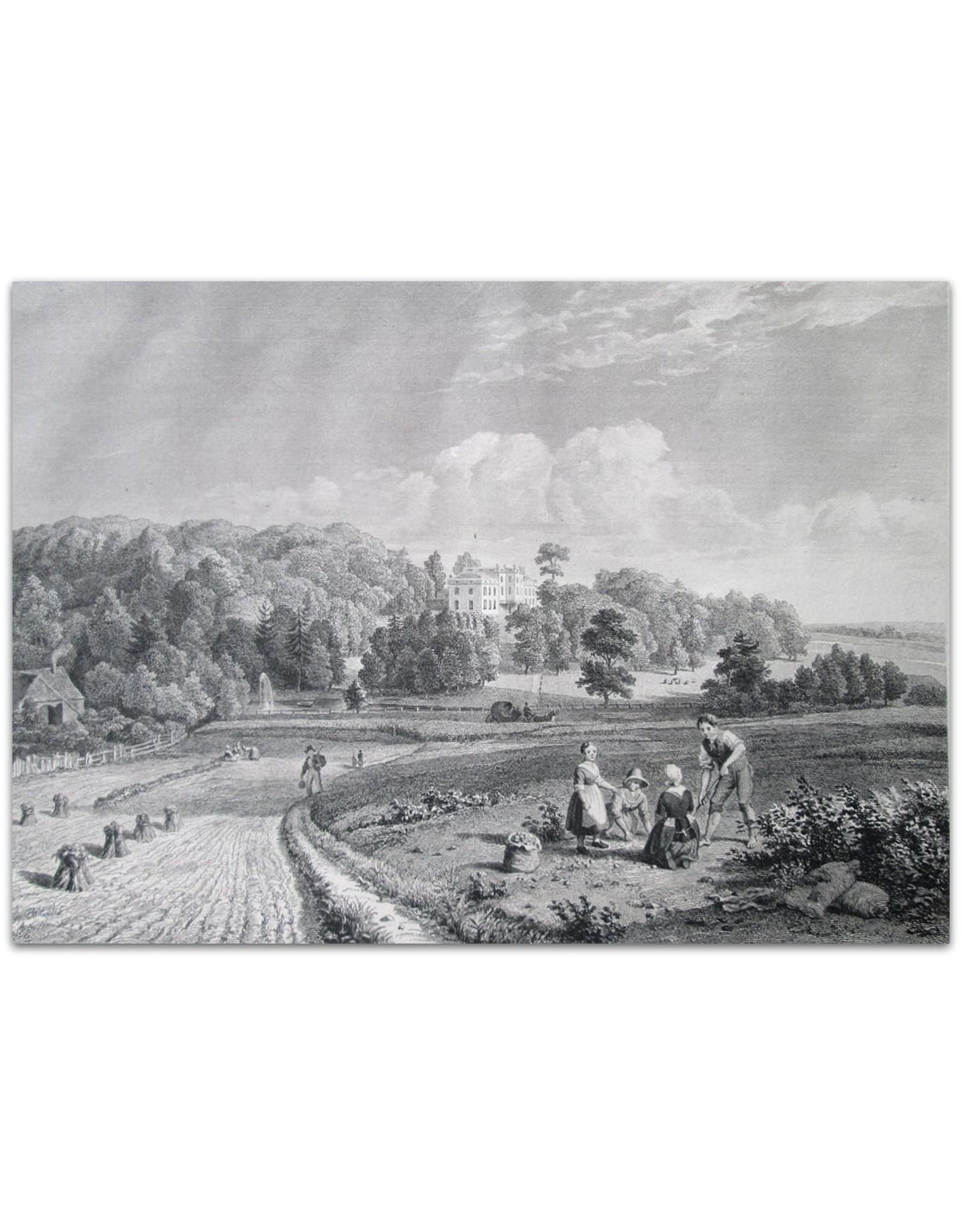 A.J. Couwenberg Jr. - Gezigt op het Landhuis Sonsbeek na by Arnhem