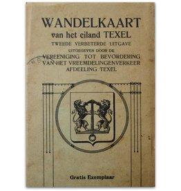 Wandelkaart van het eiland Texel - ca 1910