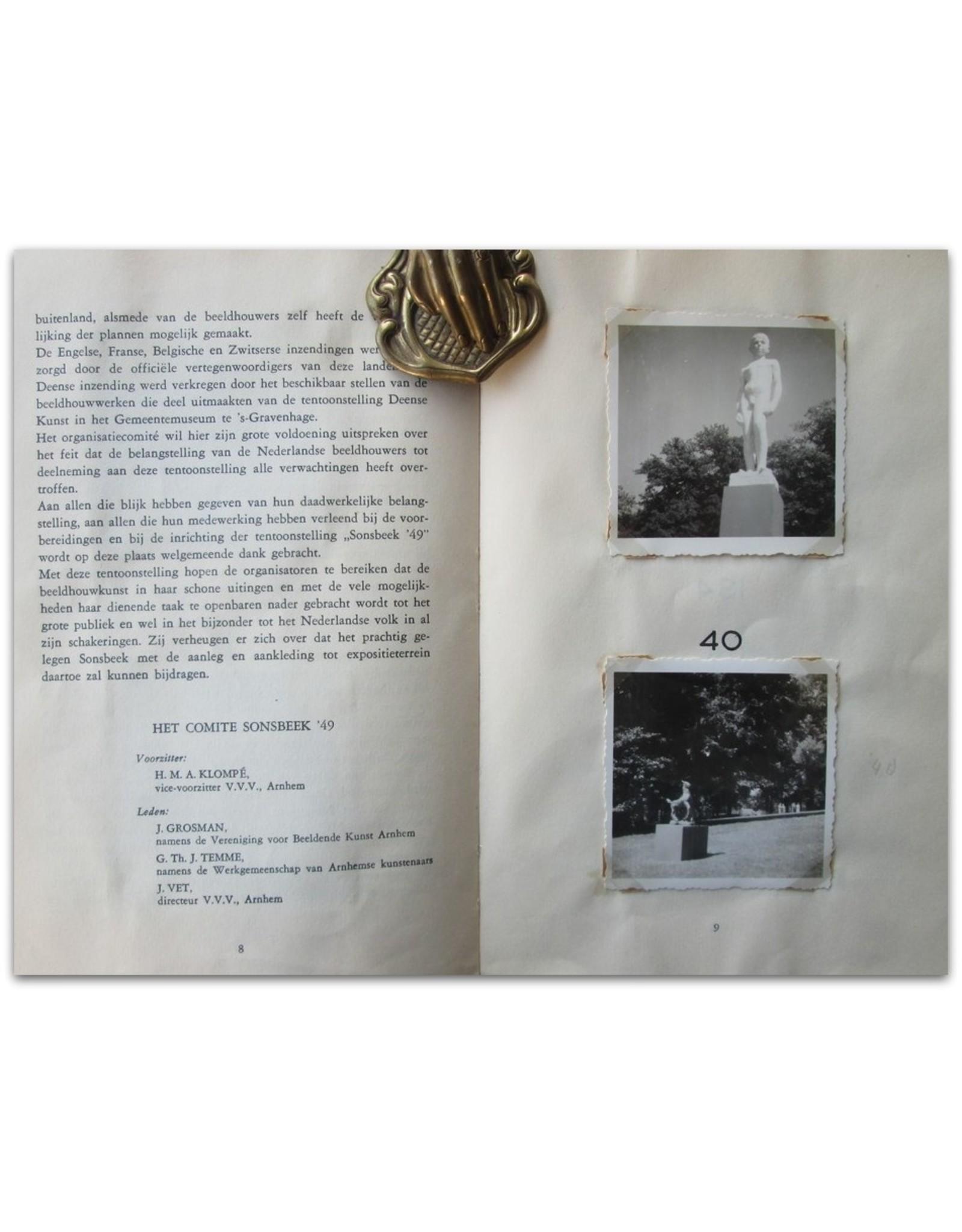 Sonsbeek '49 Europese Beeldhouwkunst in de open lucht: Arnhem 1 juli - 18 september 1949