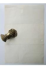 F. Bordewijk - Zeer geachte heer Bordewijk,  [Originele handgeschreven brief]