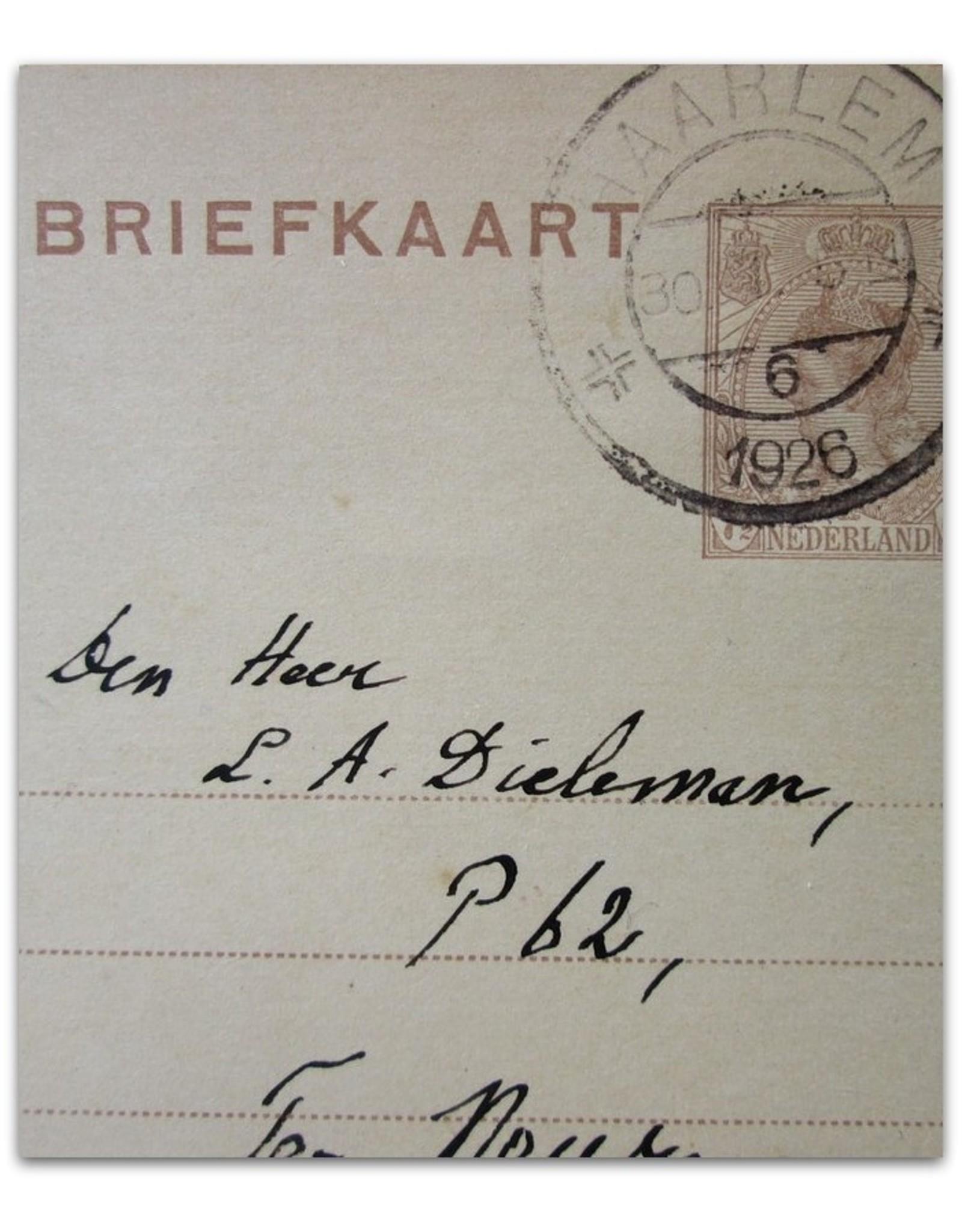 Lodewijk van Deyssel - [Original handwritten postcard addressed to a signature hunter ]