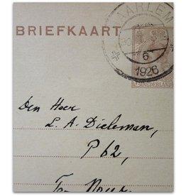 Lodewijk van Deyssel - Briefkaart - 1926