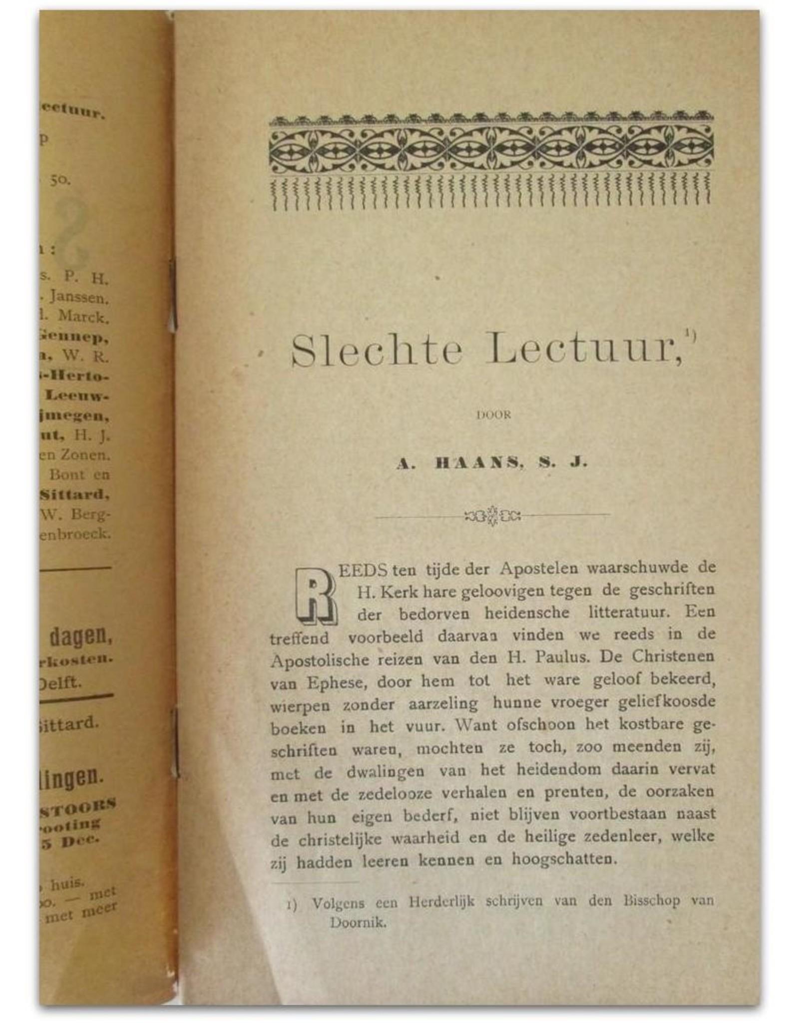 A. Haans S.J. - Slechte Lectuur [Gele Boekjes reeks] Jaargang 9, No. 2