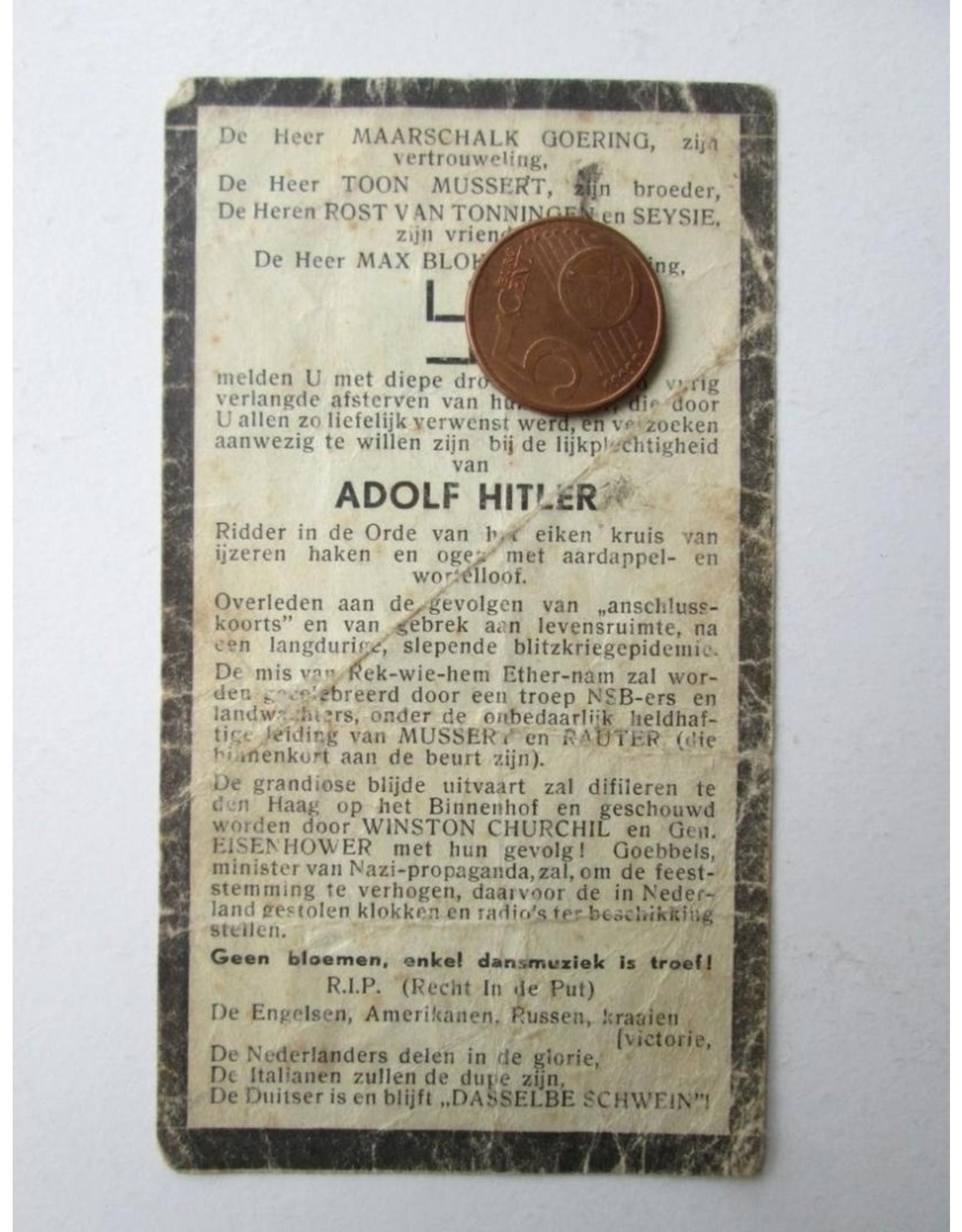 [Anonymous] - Adolf Hitler: Hij kwam... maar niet in Engeland. Hij zag... Moskou. Hij verloor... Der Krieg