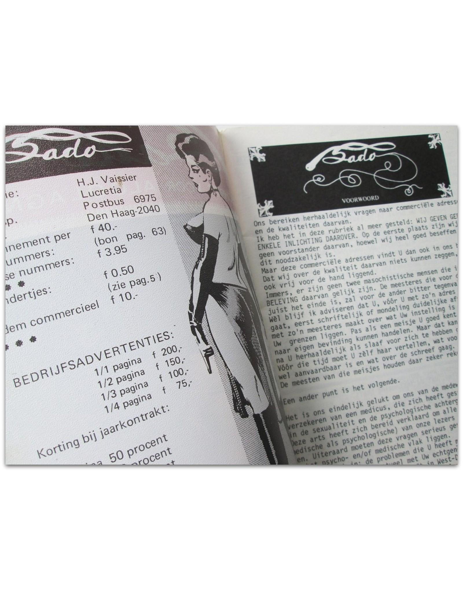[BDSM] Sado: 4de jaargang nr. 10. Tijdschrift voor algolagny