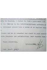 V.V. Nalimov - Dear Mr. Jacob, [Originele brief in typoscript + waardevolle extra's]