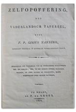 F.P. Gisius Nanning - Zelfopoffering. Een vaderlandsch tafereel