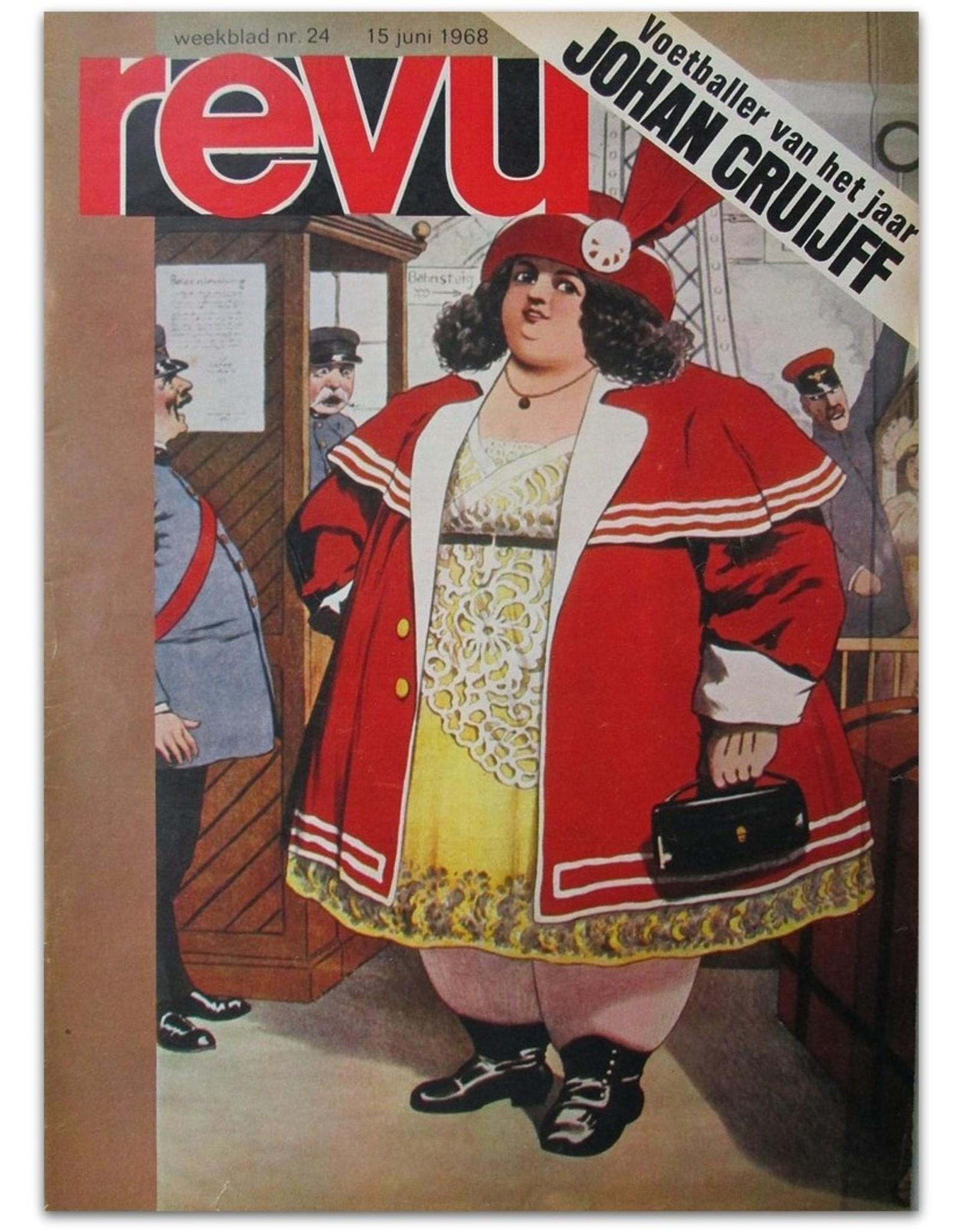 REVU Weekblad Nr. 24 - Juni 1968. [Voetballer van het jaar: Johan Cruijff]