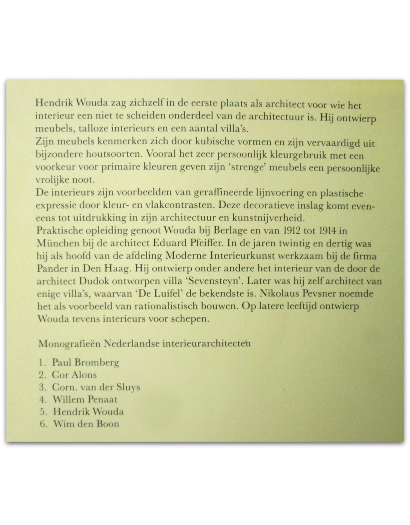 Hendrik Wouda: Architect en meubelontwerper (1885-1946)