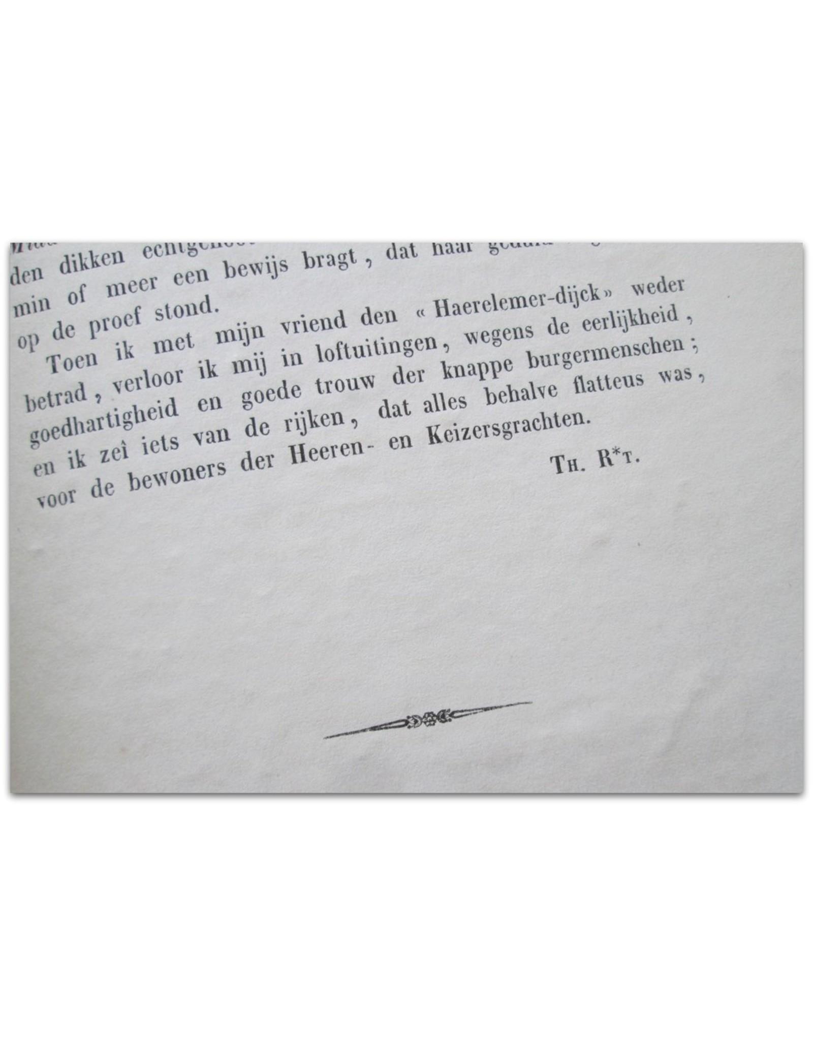 [J.A. Alberdingk Thijm] - Eene wandeling met mijn vriend H.C. [kundig Fijnschilder]