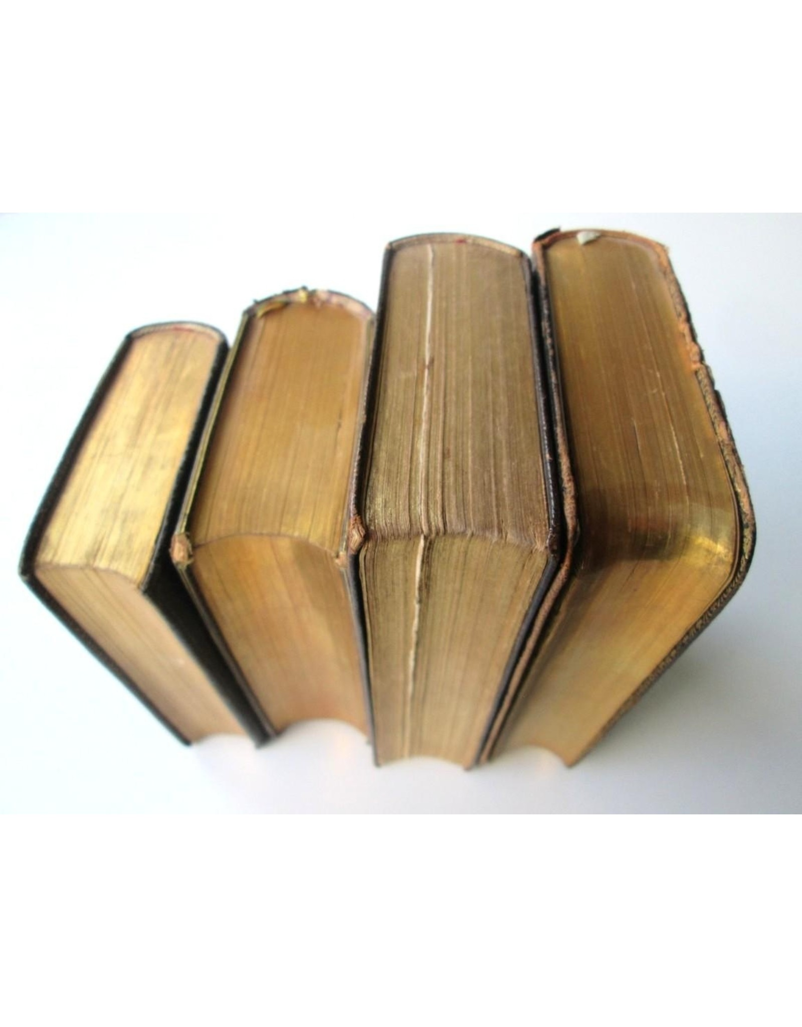 [Book bindings] Lot with 4 old French prayer books