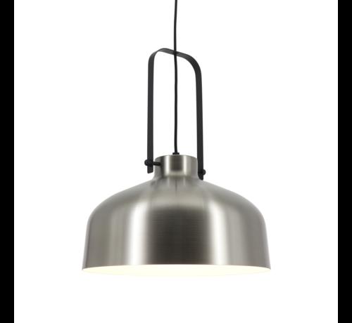 Artdelight Hanglamp Mendoza - Mat Staal/Zwart
