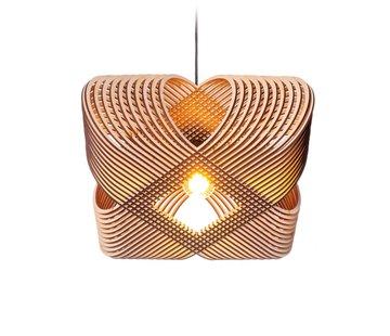 Het Lichtlab Hanglamp No.39 Ovals - Hout