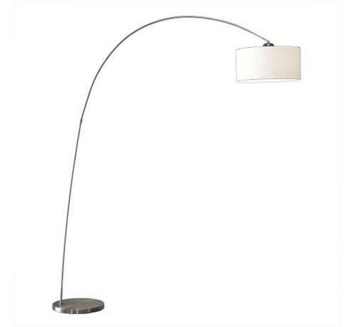 Artdelight Vloerlamp Bow - Mat Staal + Kap