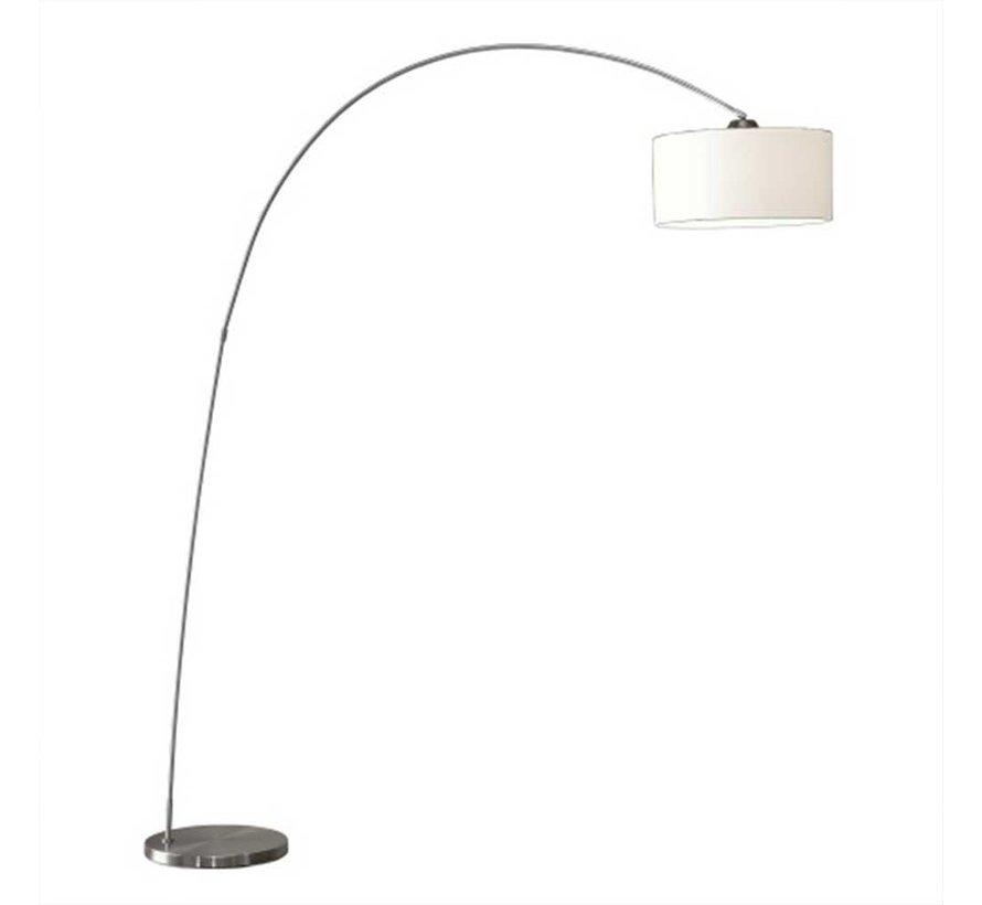 Vloerlamp Bow - Mat Staal + Kap