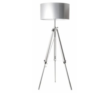 Artdelight Vloerlamp Jewel - Wit/Chroom