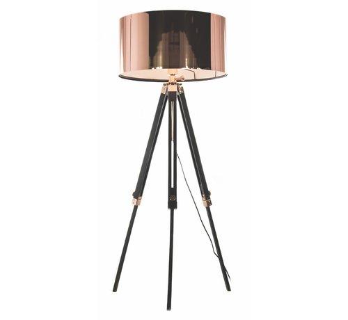 Artdelight Vloerlamp Jewel - Zwart/Koper