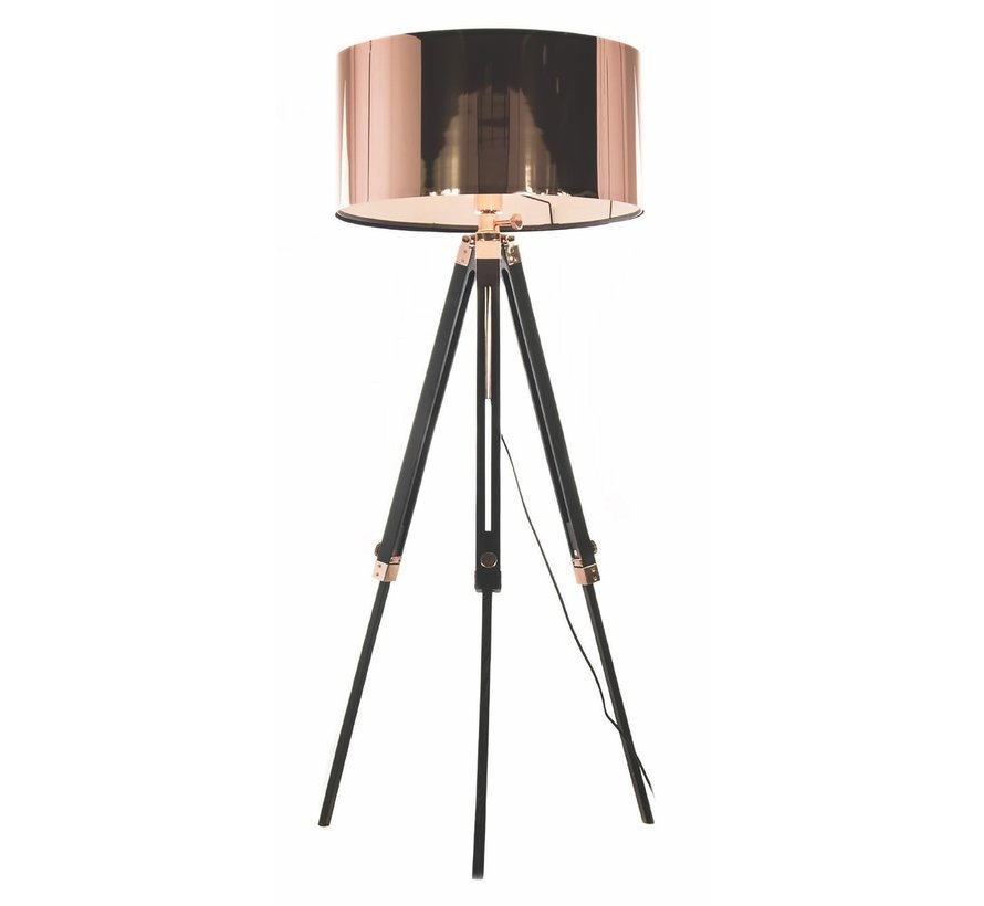 Vloerlamp Jewel - Zwart/Koper