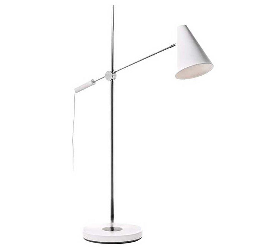 Vloerlamp Obscur - Wit/Chroom