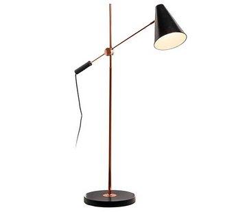 Artdelight Vloerlamp Obscur - Zwart/Koper
