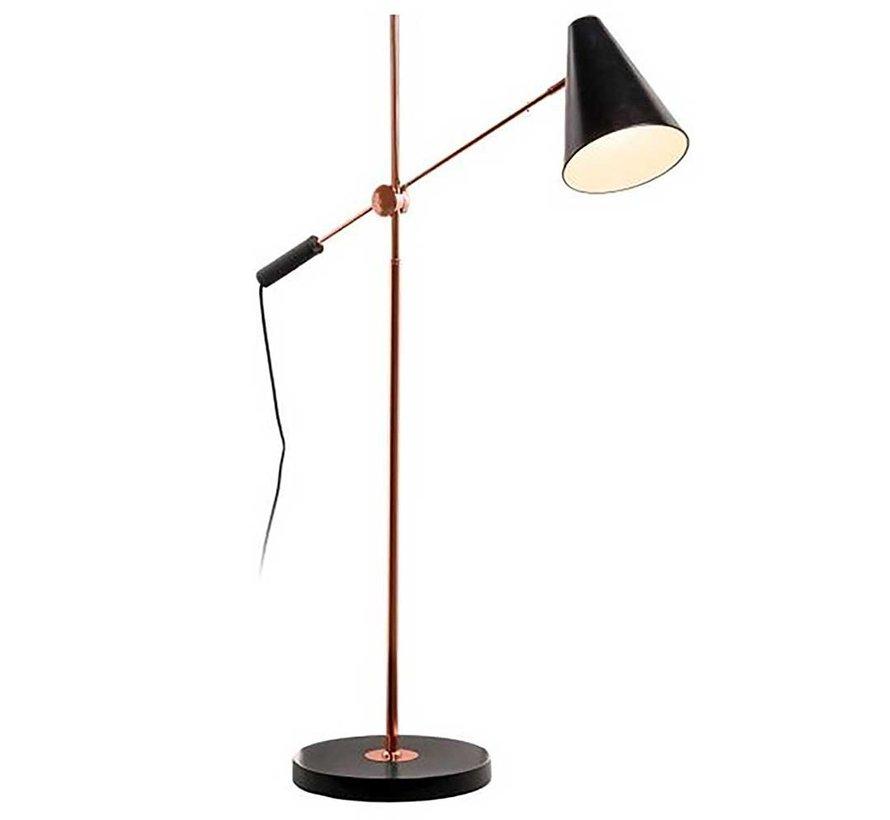 Vloerlamp Obscur - Zwart/Koper